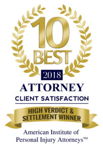 Doug Mena - 2018 Ten best attorney, high verdict and settlement winner - American Institute of Personal Injury Attorneys